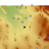 Nearby Forecast Locations - Eloy - Mapa