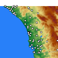 Nearby Forecast Locations - Encinitas - Mapa