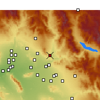 Nearby Forecast Locations - Fountain Hills - Mapa