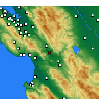 Nearby Forecast Locations - Gilroy - Mapa