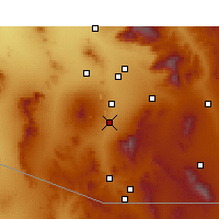 Nearby Forecast Locations - Green Valley - Mapa
