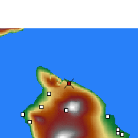 Nearby Forecast Locations - Honokaa - Mapa