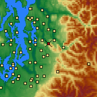 Nearby Forecast Locations - Issaquah - Mapa
