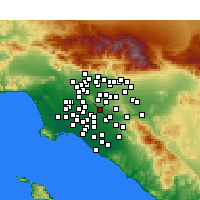 Nearby Forecast Locations - La Habra - Mapa