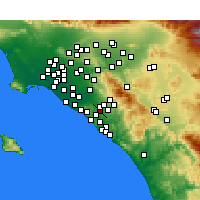 Nearby Forecast Locations - Laguna Hills - Mapa