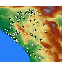 Nearby Forecast Locations - Lake Elsinore - Mapa