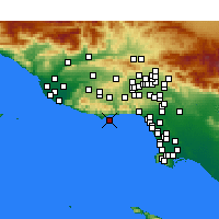Nearby Forecast Locations - Malibú - Mapa