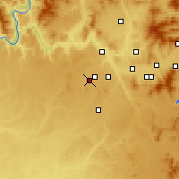 Nearby Forecast Locations - Medical Lake - Mapa