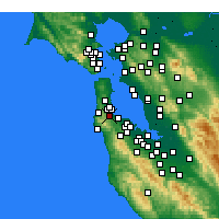 Nearby Forecast Locations - Millbrae - Mapa