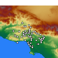Nearby Forecast Locations - Mission Hills - Mapa
