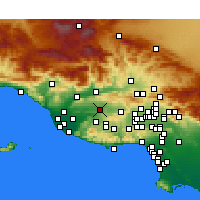Nearby Forecast Locations - Moorpark - Mapa
