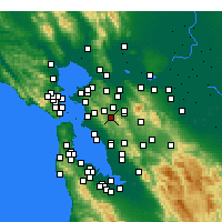 Nearby Forecast Locations - Moraga - Mapa