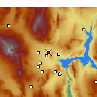Nearby Forecast Locations - Base de la Fuerza Aérea Nellis - Mapa
