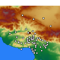 Nearby Forecast Locations - Newhall - Mapa
