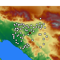 Nearby Forecast Locations - Norco - Mapa