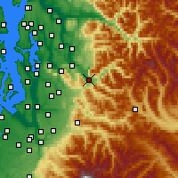 Nearby Forecast Locations - North Bend - Mapa