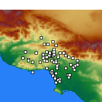 Nearby Forecast Locations - North Hills - Mapa