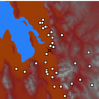Nearby Forecast Locations - North Salt Lake - Mapa