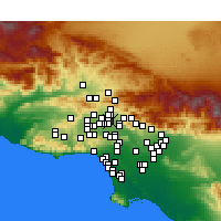 Nearby Forecast Locations - Pacoima - Mapa