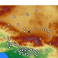 Nearby Forecast Locations - Lake Los Angeles - Mapa