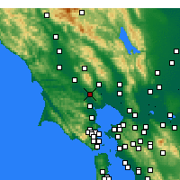 Nearby Forecast Locations - Petaluma - Mapa