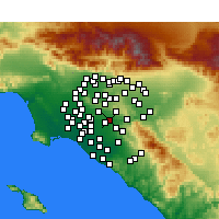 Nearby Forecast Locations - Placentia - Mapa