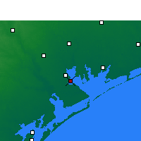 Nearby Forecast Locations - Port Lavaca - Mapa