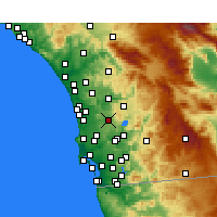Nearby Forecast Locations - Poway - Mapa
