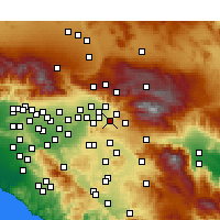 Nearby Forecast Locations - Redlands - Mapa