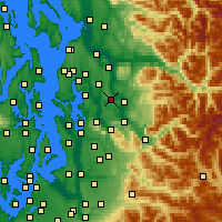 Nearby Forecast Locations - Redmond - Mapa