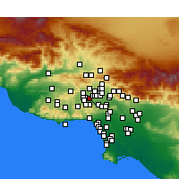 Nearby Forecast Locations - Reseda - Mapa