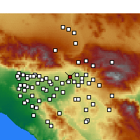 Nearby Forecast Locations - Rialto - Mapa