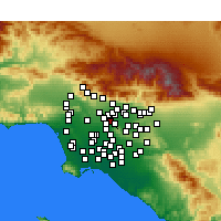 Nearby Forecast Locations - Rosemead - Mapa