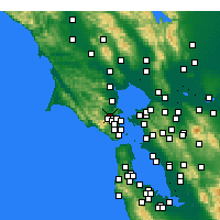 Nearby Forecast Locations - San Anselmo - Mapa