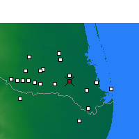 Nearby Forecast Locations - San Benito - Mapa