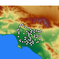 Nearby Forecast Locations - San Gabriel - Mapa