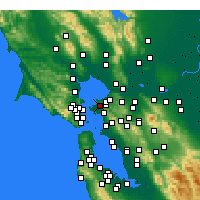 Nearby Forecast Locations - San Pablo - Mapa