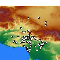 Nearby Forecast Locations - Santa Clarita - Mapa