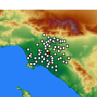 Nearby Forecast Locations - Santa Fe Springs - Mapa