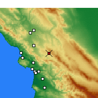 Nearby Forecast Locations - Santa Margarita - Mapa