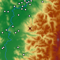 Nearby Forecast Locations - Silverton - Mapa