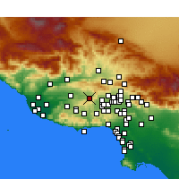 Nearby Forecast Locations - Simi Valley - Mapa