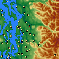 Nearby Forecast Locations - Snohomish - Mapa