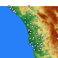 Nearby Forecast Locations - Solana Beach - Mapa