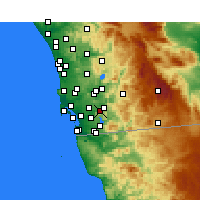 Nearby Forecast Locations - Spring Valley - Mapa