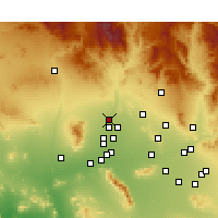 Nearby Forecast Locations - Sun City West - Mapa