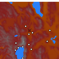 Nearby Forecast Locations - Sun Valley - Mapa