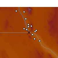 Nearby Forecast Locations - Sunland Park - Mapa