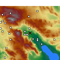 Nearby Forecast Locations - Thousand Palms - Mapa