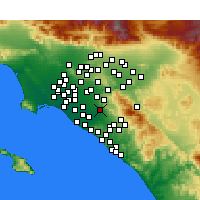 Nearby Forecast Locations - Tustin - Mapa